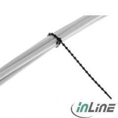 Vendita Inline Fascette Per Cablaggio A Grani Riapribili 100Mm. Nero 100Pz prezzi Fascette Plastiche su Hardware Planet Compu...