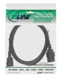 Prolunghe Inline Cavo Prolunga Alimentazione Elettrica Presa Vde C13 A Spina Vde C14 Nera 1M 16631 Inline