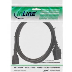 Prolunghe Inline 16631 Inline Cavo Prolunga Alimentazione Elettrica Presa Vde C13 A Spina Vde C14 Nera 1M