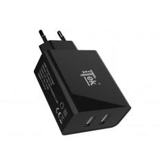 Vendita Caricabatteria da muro da 24W 4.8A(2x2.4A) con 2 porte USB Smart Smart IC prezzi Alimentatori USB su Hardware Planet ...