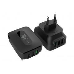 Vendita Caricabatteria da muro da 25W 7.8A(2x2.4A. 1x3A) con 3 porte: 2xUSB Smart 1xQC3.0 Smart IC prezzi Alimentatori USB su...
