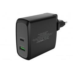 Vendita Caricabatteria da muro da 60W 6A(2x3A) con 2 porte: 1xType-C PD 1xQC3.0 Smart IC prezzi Alimentatori USB su Hardware ...