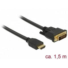 Vendita DeLOCK HDMI a DVI - 1.5 m prezzi Cavi Video Da HDMI a DVI su Hardware Planet Computer Shop Online