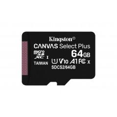 Vendita Kingston Canvas Select Plus 64GB MicroSDXC Classe 10 UHS-I 100/85 MB/s prezzi Flash Memory su Hardware Planet Compute...