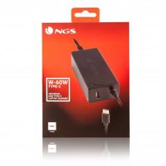 Vendita NGS W-60W Type-C adattatore e invertitore Interno Nero prezzi Alimentatori Per Notebook su Hardware Planet Computer S...
