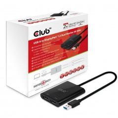 Vendita CLUB3D USB A to DisplayPort™ 1.2 Dual Monitor 4K 60Hz prezzi Docking Station su Hardware Planet Computer Shop Online