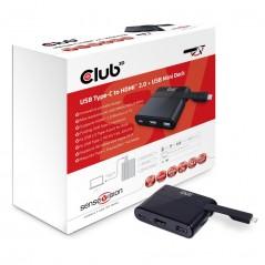 Vendita CLUB3D USB Type-C to HDMI™ 2.0 + USB 2.0 + USB Type-C Charging Mini Dock prezzi Docking Station su Hardware Planet Co...