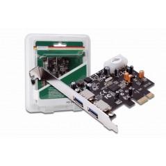 Vendita Digitus USB 3.0 PCI Express Card, 2-Port scheda di interfaccia e adattatore USB 3.2 Gen 1 (3.1 Gen 1) prezzi Controll...
